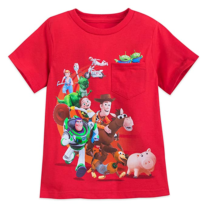 cb58ccf40b627f Amazon.com: Disney Toy Story 4 Cast T-Shirt for Boys Multi: Clothing