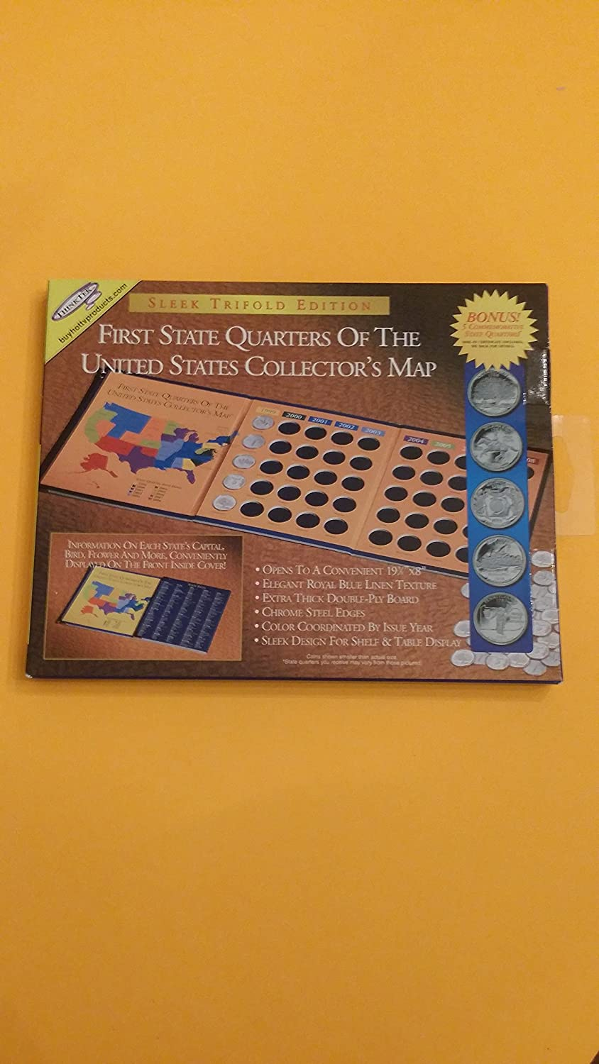 First State Quarters of the United States Collectors Map Think Tek Inc Collector/'s Map