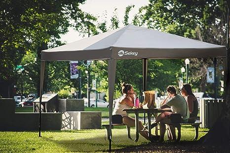 Sekey 3x3m Cenador para Jardin Plegable, Impermeable Carpa de Jardín con Paredes Laterales, Pabellón de Jardín para Parrillas/Fiestas/Fiesta/Barbacoas/Boda, Taupe: Amazon.es: Electrónica
