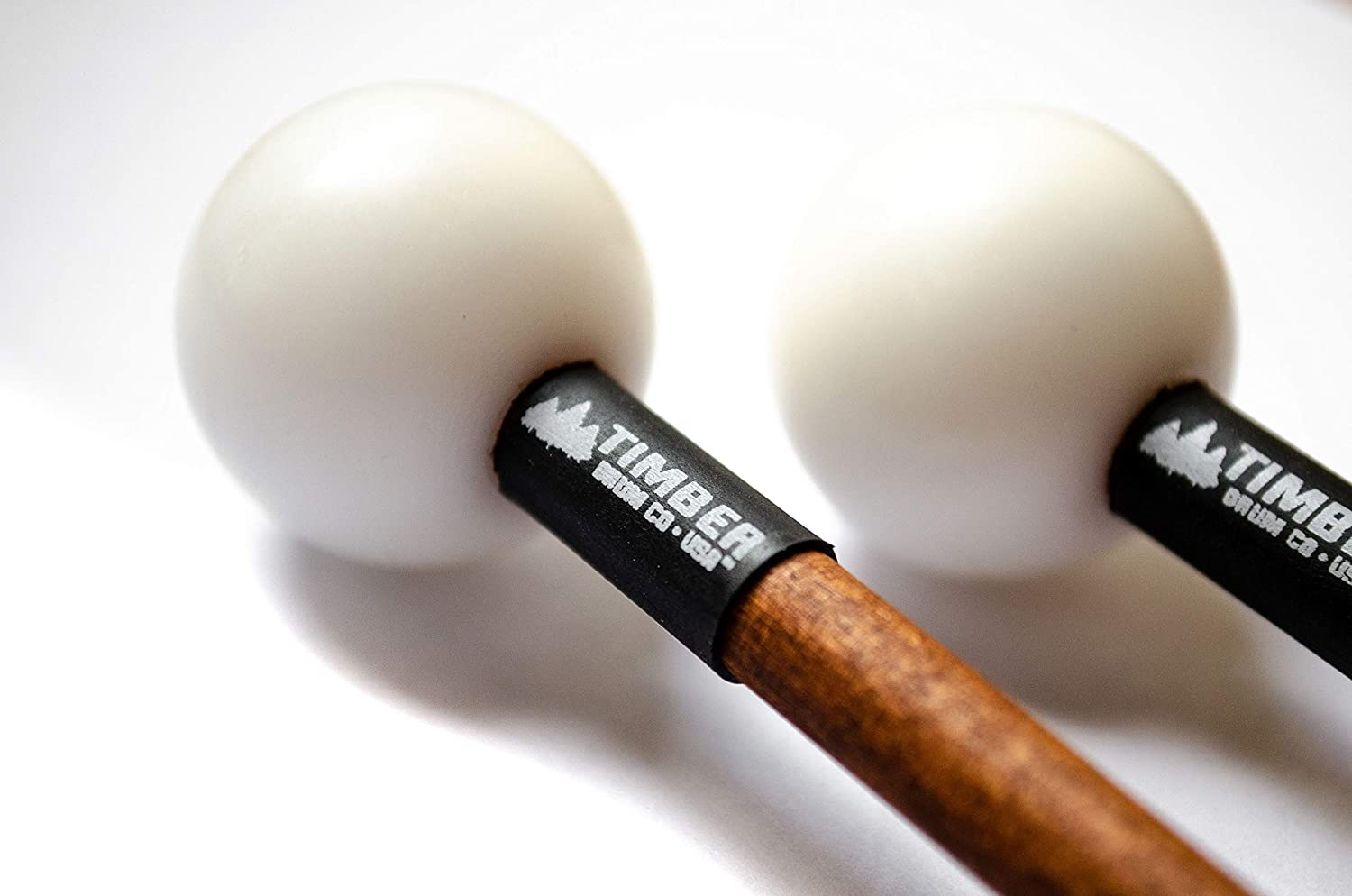 Xylophone T2HP Wood Block Made in U.S.A Timber Drum Co Pair of Hard Polymer Mallets for Energy Chime and Bells Premium