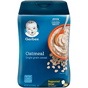 Gerber Single-Grain Oatmeal Baby Cereal, 16 Ounce (Pack of 6)