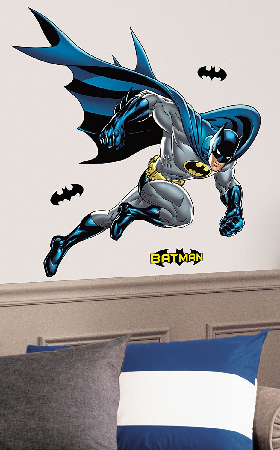 Amazon.com: RoomMates RMK1864GM Batman Bold Justice Peel And Stick Giant Wall  Decal: Home Improvement