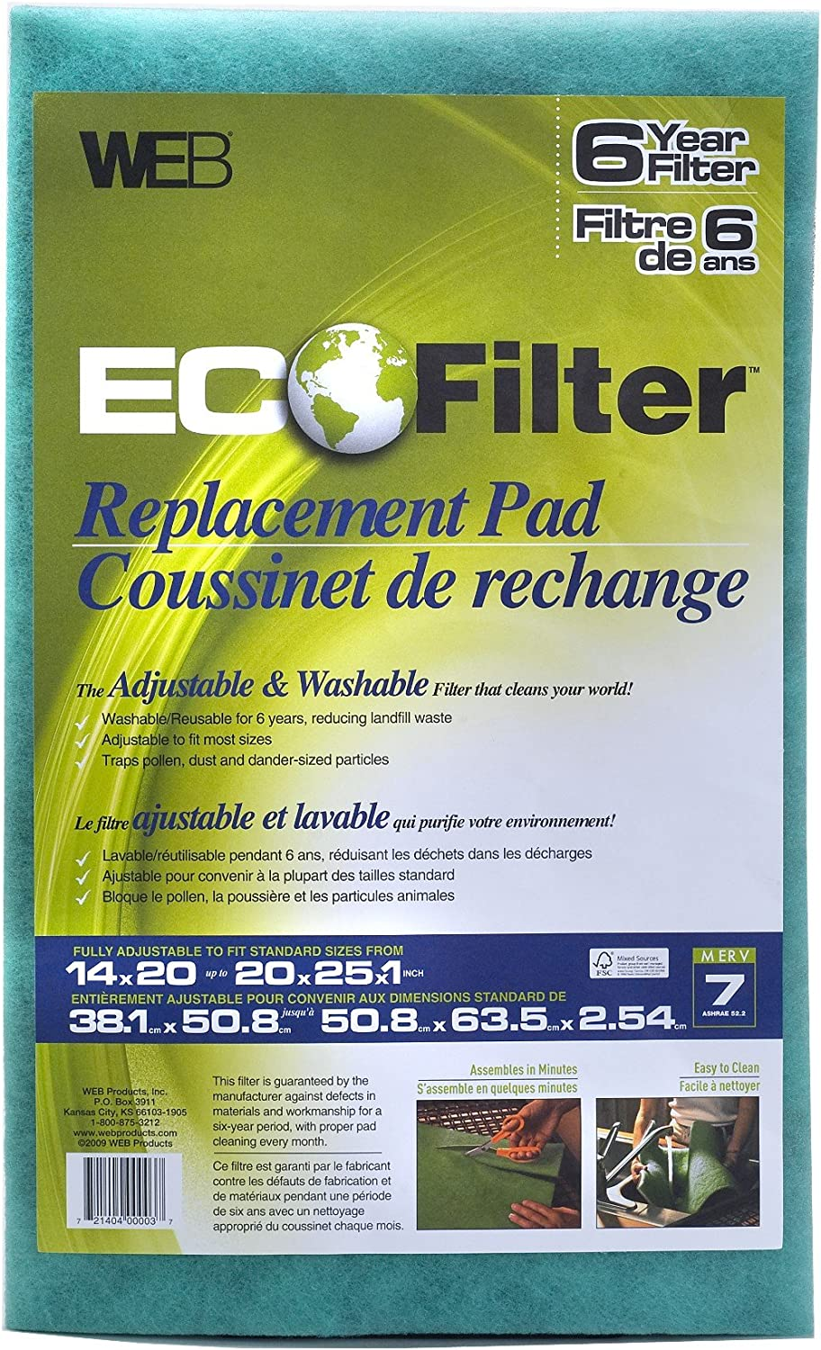 WEB Eco Filter Replacement Pad, 6 Year