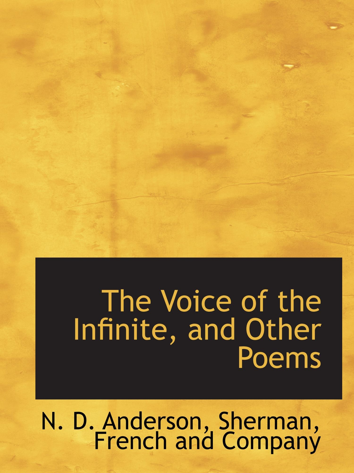 The Voice of the Infinite, and Other Poems pdf epub