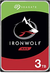 Seagate IronWolf 3TB NAS Internal Hard Drive HDD – CMR 3.5 Inch SATA 6Gb/s 5900 RPM 64MB Cache for RAID Network Attached Storage – Frustration Free Packaging (ST3000VN007)