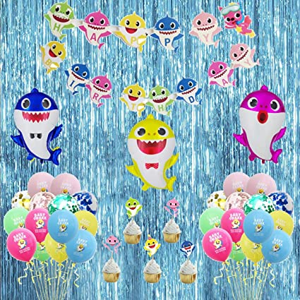 Amazon.com: Budicool Baby Shark Party Supplies Baby Shark ...