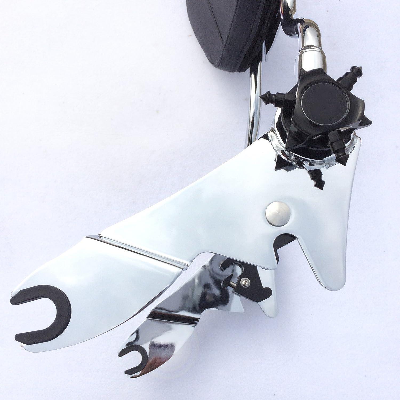 Street Glide XKMT GROUP Motorcycle Black Adjustable Detachable Backrest Sissy Bar with pad For 2007 2008 2009 2010 2011 2012 2013 2014 2015 Harley Davidson FLHR Road King FLHX