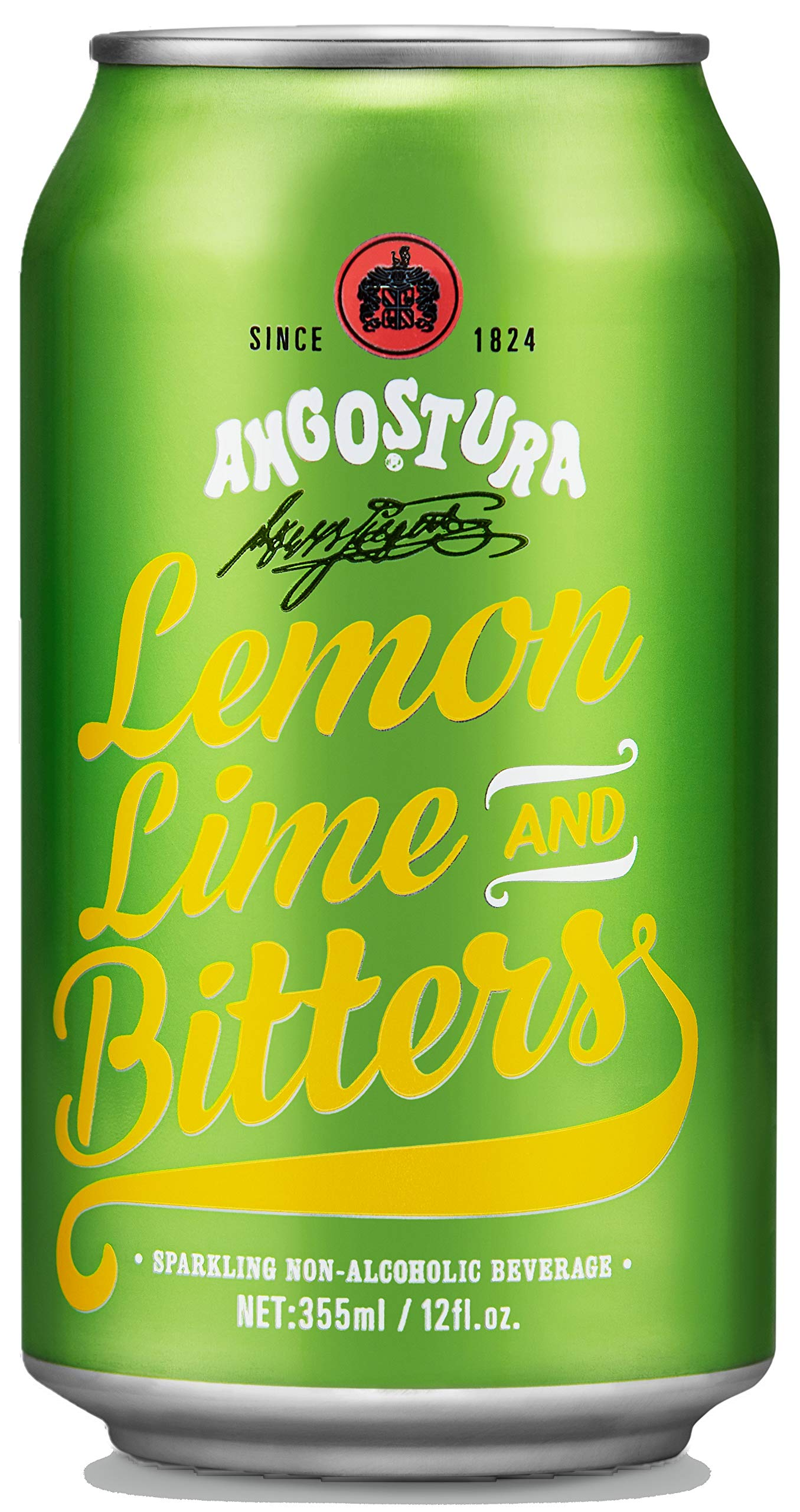 Angostura Lemon, Lime & Bitters, Non-Alcoholic Soda Cocktail Mixer, 12 fl oz Cans, 12 Pack