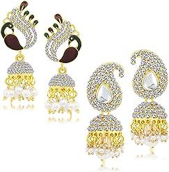 Sukkhi Copper Jhumki Earrings for Women (Golden) (CB70123GLDPD1350)