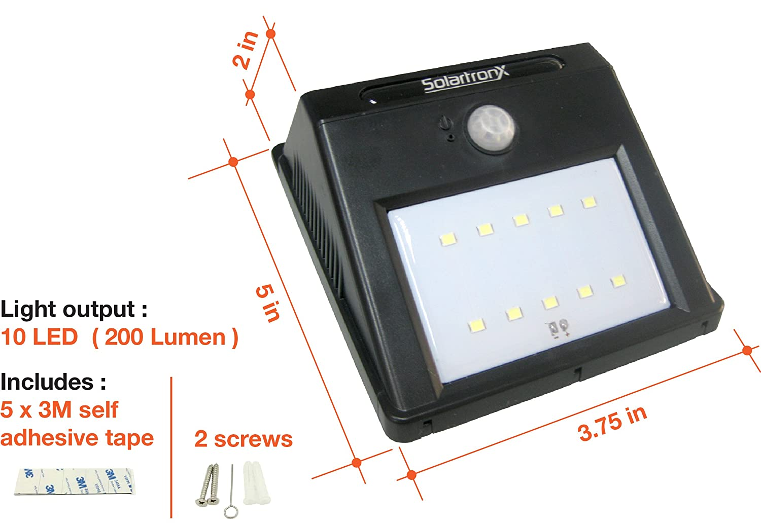 Amazon 10 led motion sensor solar light dusk to dawn security amazon 10 led motion sensor solar light dusk to dawn security lighting for outdoors ideal for walkway garden yard deck patio fence and outdoor aloadofball Image collections