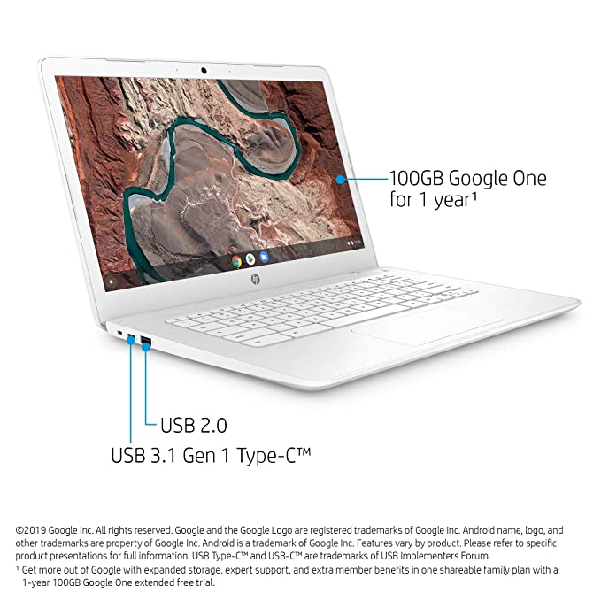 Amazon.com: HP Chromebook 14-inch Laptop with 180degree ...