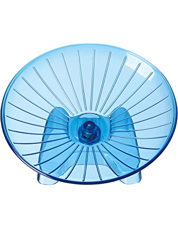 SatisPet - Rueda de Ejercicio para Hámster, Color Azul, plástico ABS Resistente, para