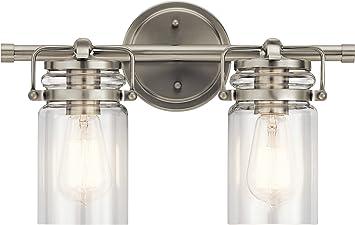 Kichler 45688NI Brinley Vanity, 2-Light 150 Total Watts, Brushed Nickel