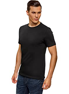 oodji Ultra Hombre Camiseta Básica (Pack de 5): Amazon.es: Ropa y ...