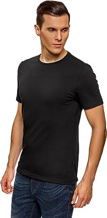 oodji Ultra Hombre Camiseta Básica (Pack de 3): Amazon.es: Ropa y accesorios