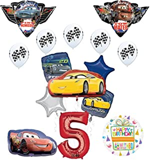 Disney Cars 3 Lighting McQueen 7th Birthday Party Supplies