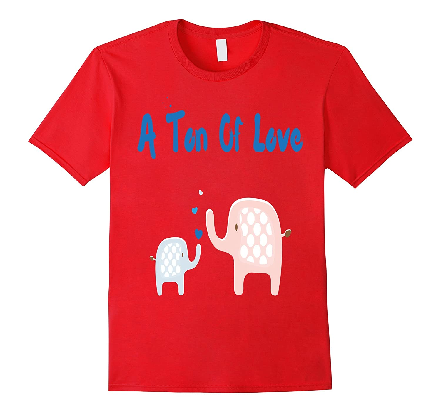 A ton of love mom T-shirt mother elephant son daughter gift-TD
