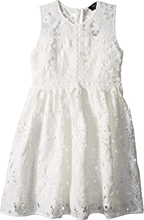 Amazon.com  Bardot Junior Girl s Panama Lace Dress (Big Kids) Ivory ... 50922bab0