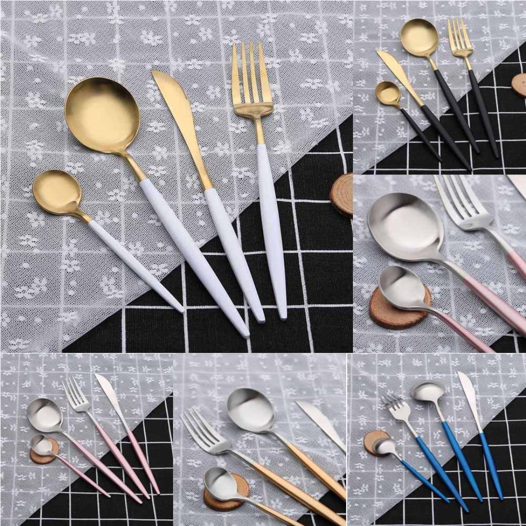 Presupuesto - Cubertería, jaminy Portugal Style Acero Inoxidable Cubiertos Tenedor Cuchara Cocina 4 Sets STK - Mesa Tenedores, de cuchillo, cuchara, ...