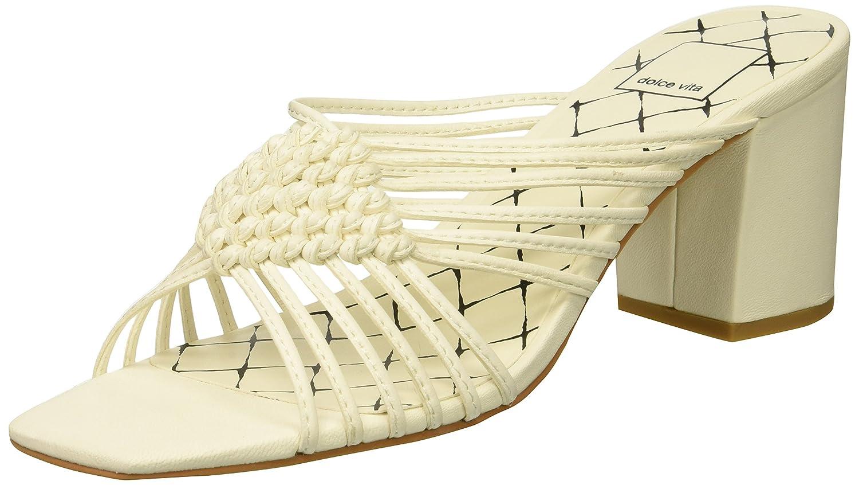 Dolce Vita Women's Delana Slide Sandal B07B9LNN2J 6 B(M) US|Off White Leather