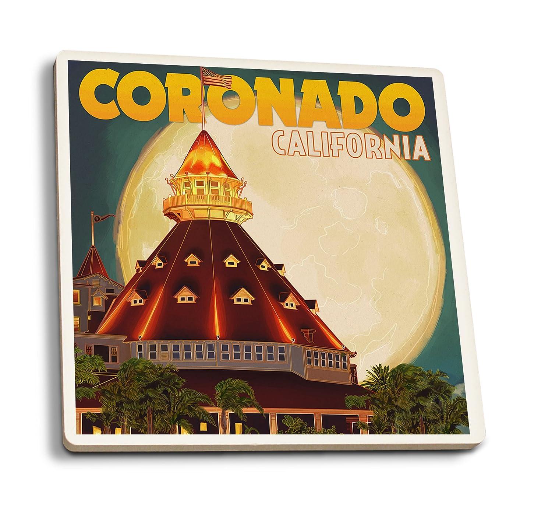 【新作からSALEアイテム等お得な商品満載】 サンディエゴ、カリフォルニア州 – Hotel Del Coronado B074RY4QM6 and Moon 4 4 Coffee Coaster Set LANT-45785-CT B074RY4QM6 8oz Coffee Bag 8oz Coffee Bag, REVE STORE:0aa5e697 --- sabinosports.com