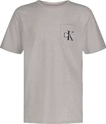 Calvin Klein Boys' Short Sleeve Pocket Logo Tee Shirt