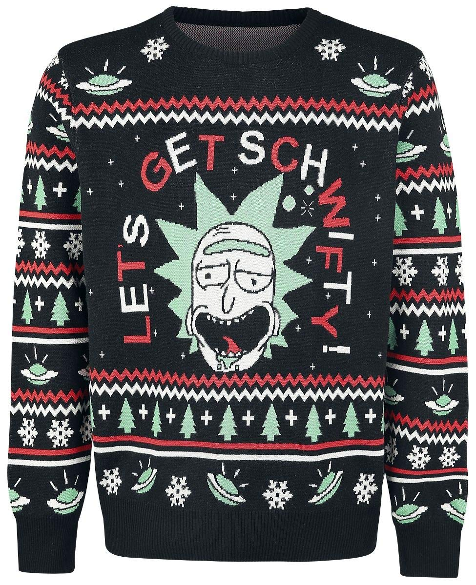 Rick & Morty Christmas Sweater Get Schwifty Size XL Bioworld Maglioni Bioworld EU
