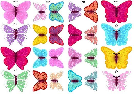Essbare Kuchendekorationen 12 Bunte Schmetterlinge Gemischte
