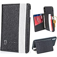 Cell Phone Wallet Stick on Stand, Credit Card Holder for Back of Phone, Adhesive Phone Pocket Sleeve for Cash, ID Card…