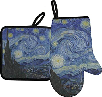 459c7a2cb18 Amazon.com  RNK Shops The Starry Night (Van Gogh 1889) Oven Mitt ...