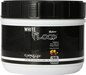 Controlled Labs White Flood Reborn Preworkout Supplement, Fruit Punch, 215 Gram