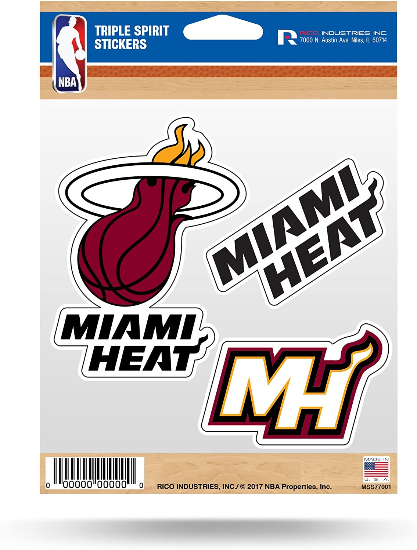 Rico Industries NBA Fan Shop Die Cut 3-Piece Triple Spirit Sticker Sheet