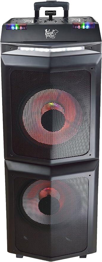 Blackpanthercity Dj Boost Speaker Wireless For Device Bluetooth Black Mp3 Hifi