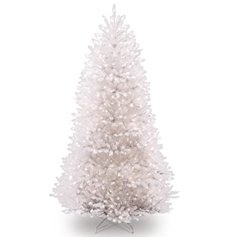 Dunhill Fir Christmas Tree.National Tree 7 5 Foot White Dunhill Fir Christmas Tree Hinged With 750 Clear Lights Duwh 75lo