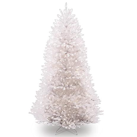 Amazon Com National Tree 7 5 Foot White Dunhill Fir Christmas  - Wispy Willow Christmas Tree