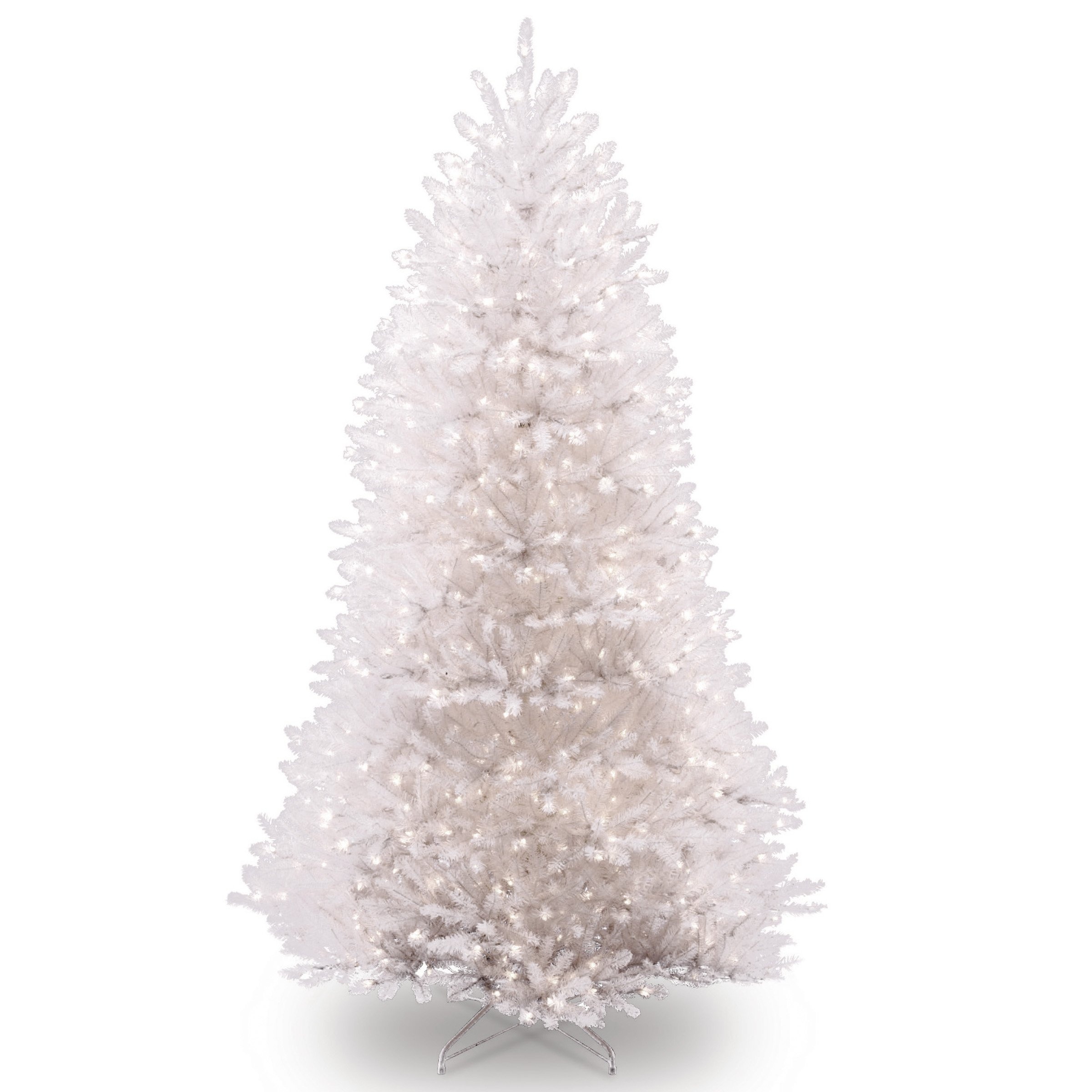 National Tree 7.5 Foot White Dunhill Fir Christmas Tree, Hinged (DUWH-75LO)