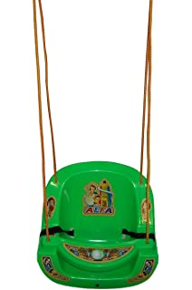 Baby Kids Garden Home Hanging Jhula Play Safe Swing Ride Seat Chair Bucket  Outdoor(Green