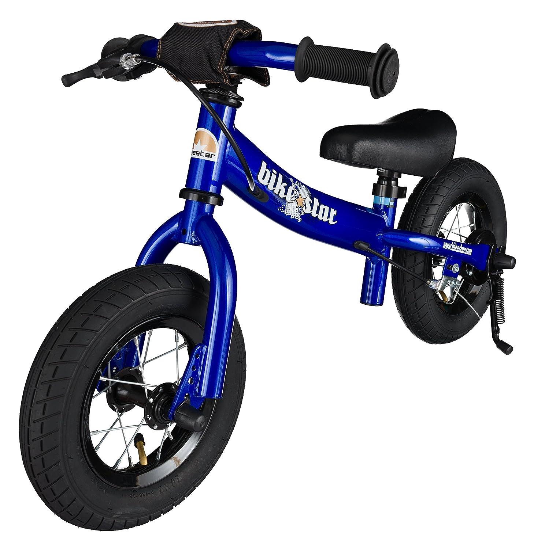 BIKESTAR Kinder Laufrad Lauflernrad Kinderrad für Jungen und Mädchen ab 2 3 Jahre mit Luftbereifung und Bremse ☆ 10 Zoll Sport Kinderlaufrad