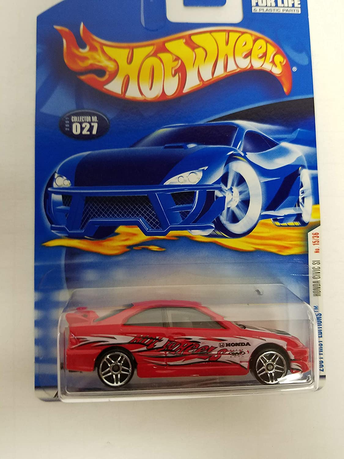 Honda Civic SI Hot Wheels 2001 First Editions diecast 1/64 scale car No. 027
