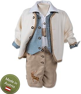 Taufanzug Tracht Baby Taufe Buben Kinder Blau Weiß Braun