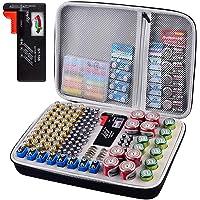 Battery Organizer Holder- Batteries Storage Containers Box Case with Tester Checker BT-168. Garage Organization Holds…