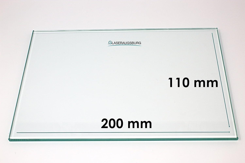 Klarglas 4 mm stark alle Ma/ße lieferbar 200 mm x 110 mm Glasplatte//Glasregal 20 cm x 11 cm