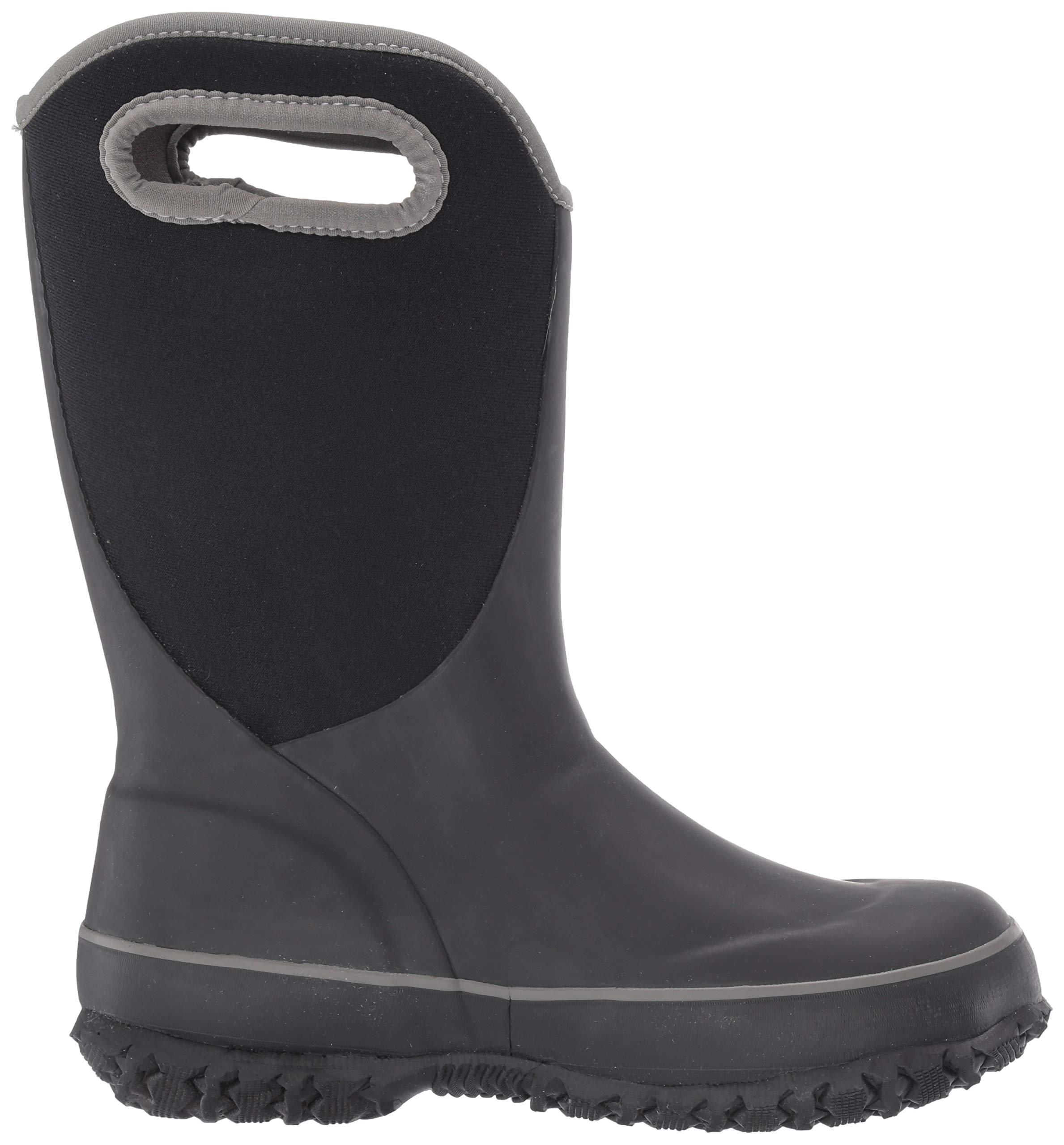 Bogs Unisex Slushie Snow Boot, Solid Black/Multi, 5 Medium US Big Kid by Bogs (Image #6)