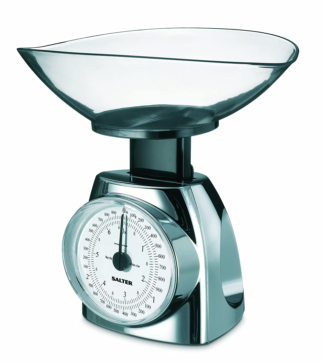 Amazon.com: Salter Chrome Look Mechanical Scale, Weighs To 6 1/2 Pound:  Mechanical Kitchen Scales: Kitchen U0026 Dining