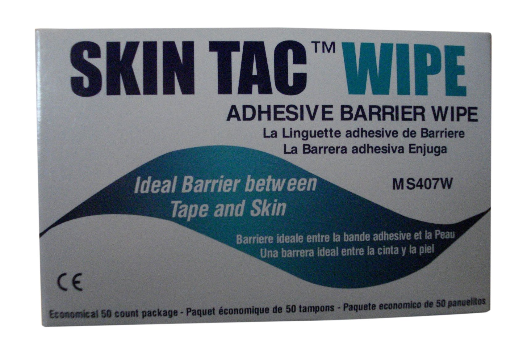 TORBOT GROUP Skin-Tac-H Adhesive Barrier Wipes, 50/Box