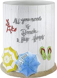 Avanti Linens Beach Mode Collection, Wastebasket, Multicolor