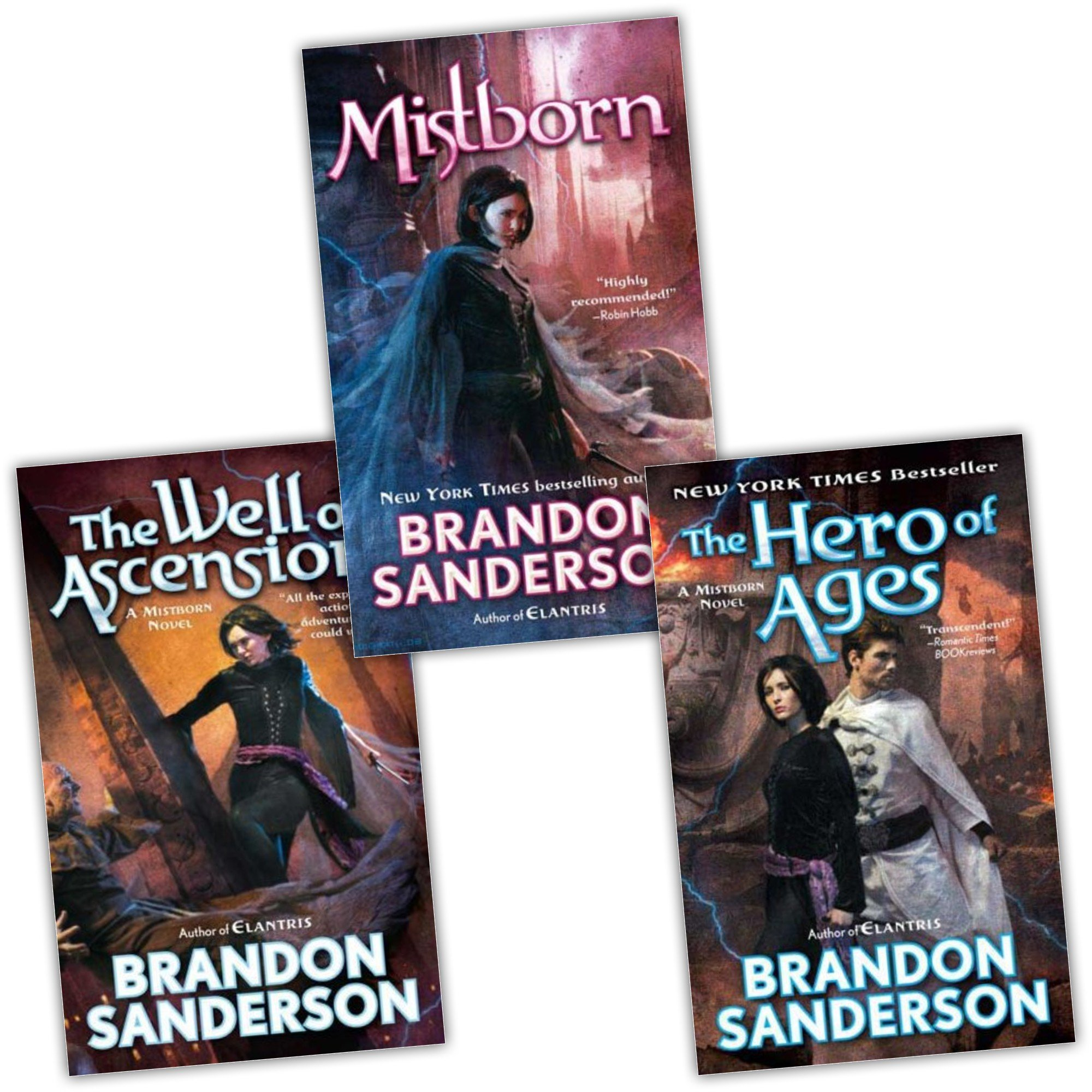 Brandon Sanderson Mistborn 3 Books Collection Pack Set The Well of Ascension...: Amazon.es: Libros