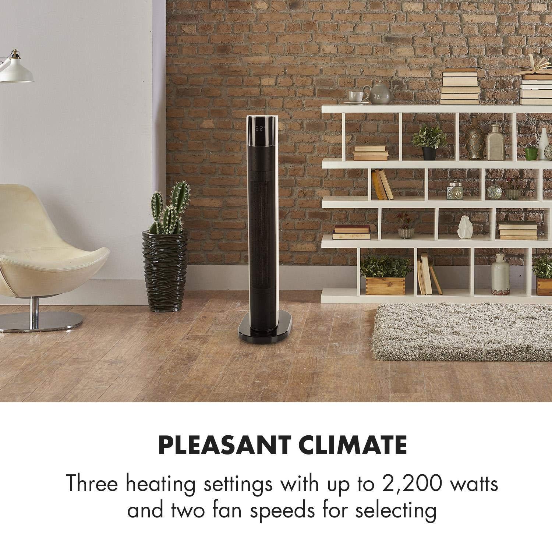 Klarstein Hightower Heat Deluxe Calefactor cerámico • Termostato • Ventilador • 2 en 1 • 2200 W • De 5 a 35 °C • Autoapagado • Mando a Distancia ...