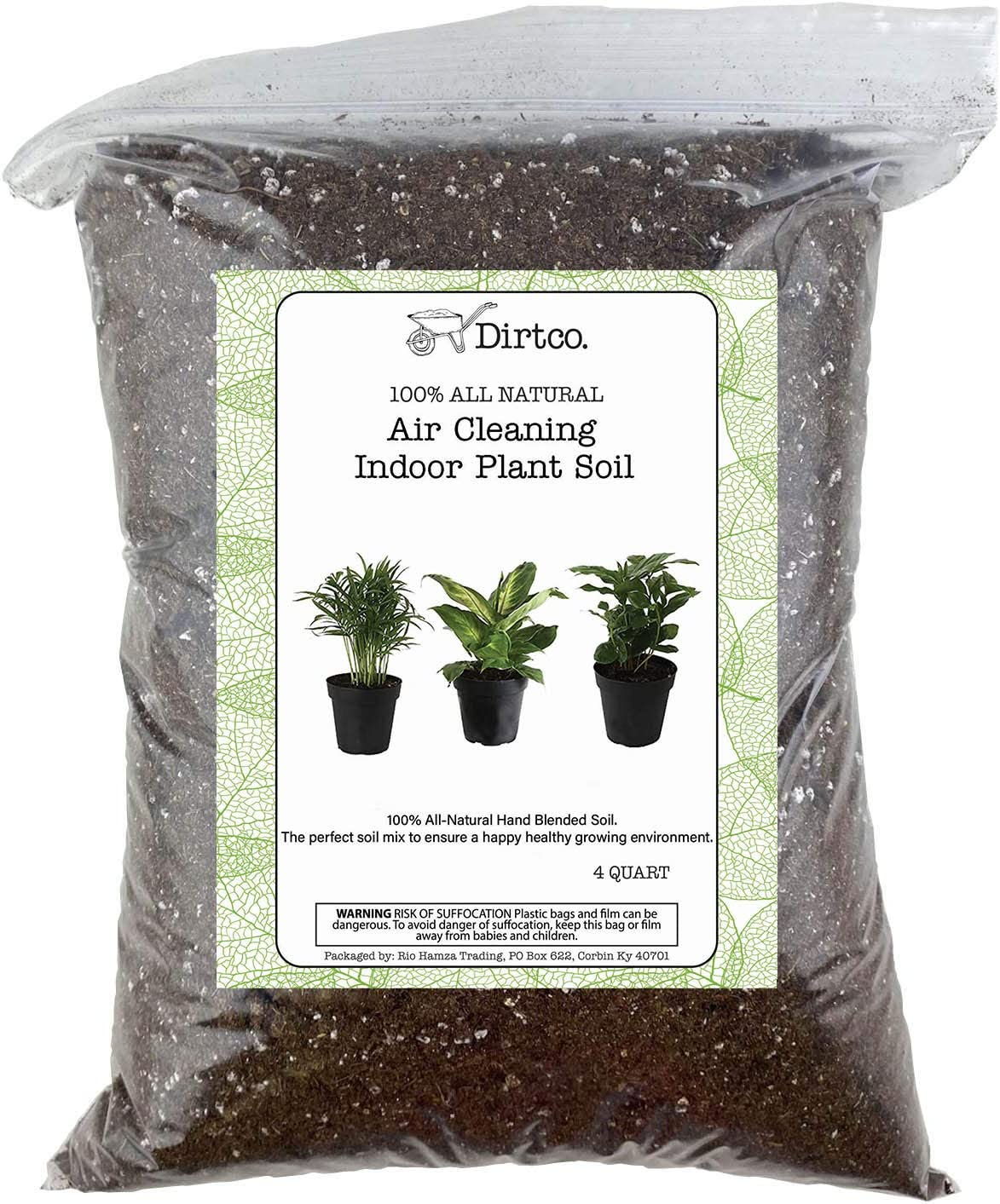 Air Cleaning Indoor Plant Soil Mixture, Gardening Soil Amendment and Clean Air Plant Soil Media, 4qt