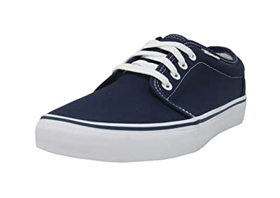 008a51ea33c8e3 Vans Men s Sneakers 106 Vulcanized Skate Shoes Navy Blue White ...